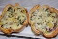 Tartaletas de acelgas y queso