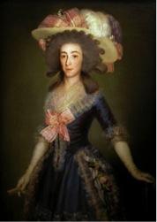 Retrato de la duquesa de Osuna. Francisco de Goya y Lucientes. Colección particular
