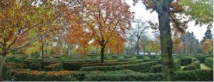 """""""El Laberinto"""" del Parque del Capricho en otoño."""