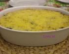 Espinacas con puré de patatas y queso al horno