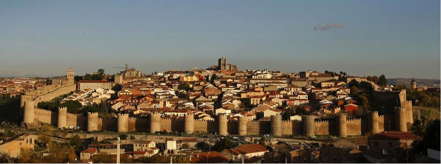 Vista de Ávila amurallada