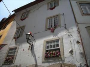 Fachada de una casa en Coimbra