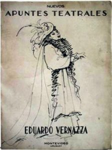 Margarita Xirgu en La loca de Chaillot Dibujo de Eduardo Vernazza