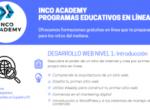 """Apúntate al nuevo curso online  """"Desarrollo Web Nivel I"""" con INCO Academy e Isadora Duncan"""