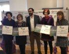 Isadora Duncan recibe las donaciones de la iniciativa '25 damas para 25 empresas'