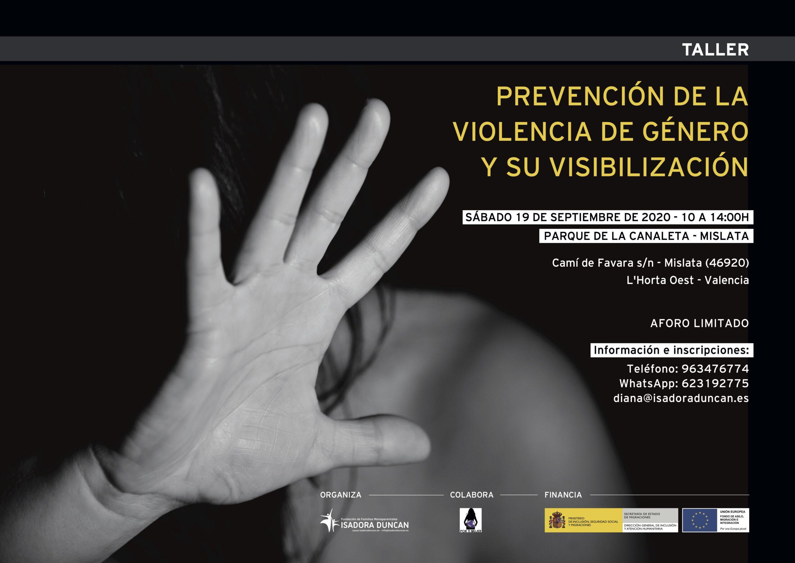 Taller prevención violencia de género