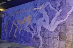 """Imagen de la obra """"Fuente misteriosa"""" expuesta en Rabat"""